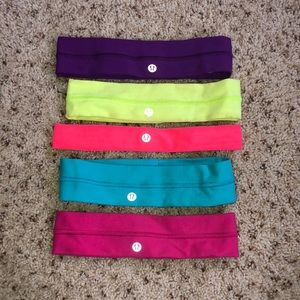 Pack of 5, Lululemon Headbands!